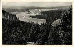 Postcard Steinbach Johanngeorgenstadt im Erzgebirge, Panoramablick auf den Ort