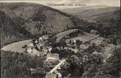 Ak Treseburg Thale im Harz, Blick auf den Ort und die Umgebung