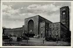 Postcard Stuttgart in Baden Württemberg, Blick auf den Hauptbahnhof
