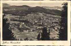 Postcard Zell am Harmersbach, Panoramablick auf den Ort