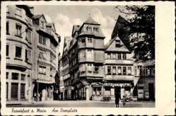 Postcard Frankfurt am Main, Partie am Domplatz, Luther Eck, Weinhaus