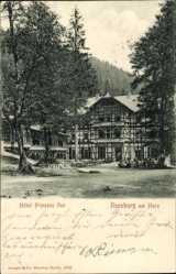 Ak Ilsenburg am Nordharz, Hotel Prinzess Ilse, Fachwerkhaus
