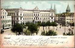 Ak Kassel in Hessen, Der Königsplatz mit Hauptpost