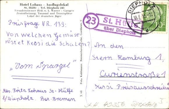 Ansichtskarte postkarte st h lfe diepholz in for Fachwerk vechta