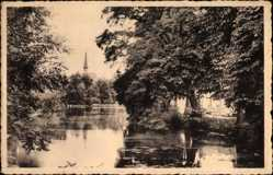 Postcard Froyennes Hennegau Wallonien, Etang et Solitude
