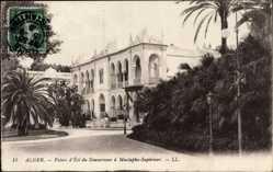 Postcard Algier Alger Algerien, Palais d'Étai du Gouverneur à Mustapha Supérieur