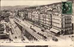Postcard Algier Alger Algerien, Boulevard de la République