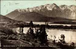 Ansichtskarte / Postkarte Queenstown Neuseeland, The Remarkables, Lake Wakatipu