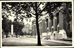 Postcard Charleroi Wallonien Hennegau, Université du Travail et Monument