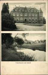 Postcard Volpershausen Morsbach im Oberbergischen Kreis, Blick auf das Schloss
