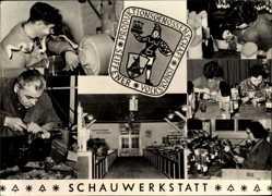 Ak Seiffen im Erzgebirge, Produktionsgenossenschaft Volkskunst, Schauwerkstatt