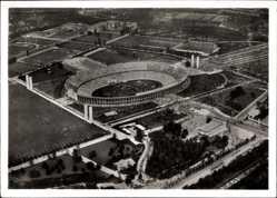 Ak Berlin Charlottenburg, Reichssportfeld, Fliegeraufnahme, Olympiastadion