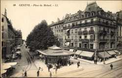 Ak Genève Genf Stadt, Place du Molard, Geschäfte, E. Arbaletrier, Tailleur