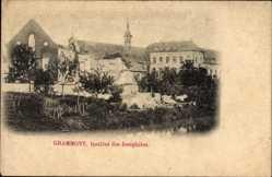 Postcard Grammont Ostflandern, vue de l'Institut des Joséphites