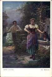Künstler Ak Zatzka, Hans, Die Müllerin, Frau beim Wasserholen