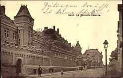 Postcard Gent Ostflandern, La Nouvelle Caserne, Straßenpartie