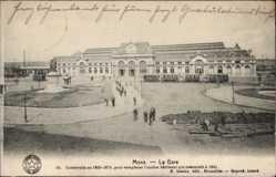 Postcard Mons Wallonien Hennegau, La Gare, Straßenbahn, Bahnhof
