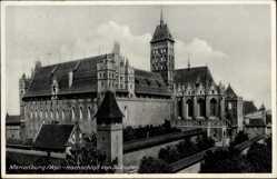 Postcard Malbork Marienburg Westpreußen, Hochschloss von Südosten