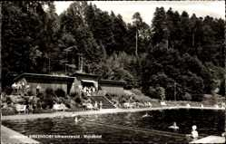 Postcard Ühlingen Birkendorf Schwarzwald, Schwimmbecken im Waldbad