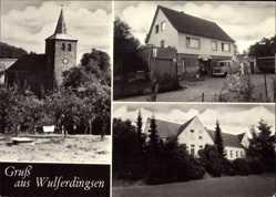 Postcard Wulferdingen Bad Oeynhausen in Nordrhein Westfalen, Kirche, Geschäft