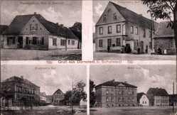 Postcard Dornstedt Teutschenthal im Saalekreis, H. Dietrich, Fritschen, Marx, Baehran