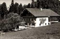 Foto Ak Hammer Siegsdorf Kreis Traunstein Oberbayern, Almwirtschaft Farnbichl