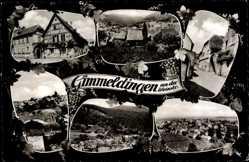Postcard Gimmeldingen Neustadt an der Weinstraße, Fachwerkhaus, Straßenpartie