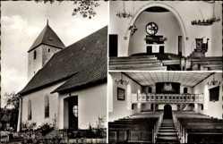 Postcard Exter Vlotho in Nordrhein Westfalen, Dorfkirche, Innenansicht