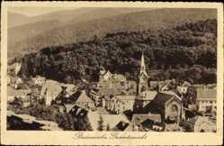 Postcard Badenweiler im Kreis Breisgau Hochschwarzwald, Totalansicht der Ortschaft