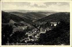 Postcard Stolberg Südharz, Blick vom Georgenberg auf den Ort, Wald, Kirche
