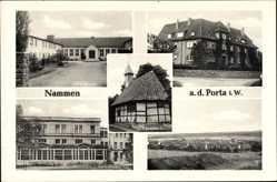 Postcard Nammen Porta Westfalica in Nordrhein Westfalen, Altersheim, Schule