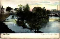 Postcard Herford in Nordrhein Westfalen, Blick auf die Bergertorbrücken