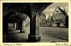 Postcard Lemgo in Nordrhein Westfalen, Säulengang am Rathaus