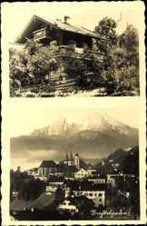 Postcard Berchtesgaden in Oberbayern, Birkenhain, Gebäude