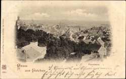 Ak Lutherstadt Eisleben in Sachsen Anhalt, Panorama der Stadt