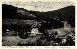 Postcard Schweigmatt Raitbach Schopfheim, Kurhaus mit Café Greiner und Hohe Möhr