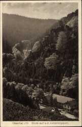 Postcard Goslar in Niedersachsen, Hotel Pension Waldhaus, Fritz Basching, Okertal