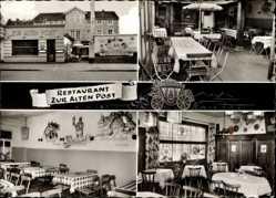 Postcard Bingen am Rhein, Restaurant Zur Alten Post, Willy u. Thea Kargl