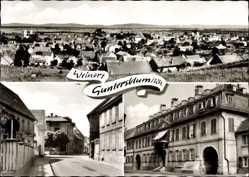 Postcard Guntersblum am Rhein, Totalansicht der Ortschaft, Straßenpartie