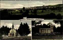 Postcard Erfweiler Ehlingen Mandelbachtal Saarland, Kapelle, Denkmal
