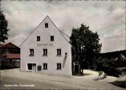 Postcard Thumsenreuth Steinwald Krummennaab, Gasthof Hör, Straßenpartie