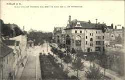 Postcard Halle an der Saale, Blick von der großen Wallstraße nach der alten Promenade