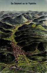 Landkarten Künstler Ak Felle, Lahr im Schwarzwald, Schuttertal, Mietersheim