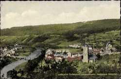 Postcard Bollendorf Sauerschweiz, Naturpark Südeifel, Totalansicht vom Ort, Kirche