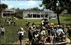 Postcard Schöppenstedt in Niedersachsen, Eulenspiegelstadt, Kindergarten, Spielplatz