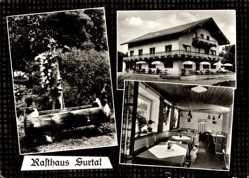 Postcard Sur Traunstein in Oberbayern, Rasthaus Surtal, Bes. Irlacher