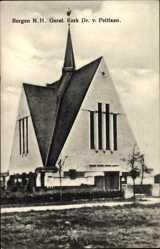 Postcard Bergen Nordholland Niederlande, Geref. Kerk Dr. v. Peltlaan, Kirche