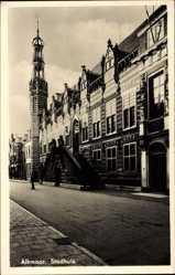 Postcard Alkmaar Nordholland Niederlande, Stadhuis, Blick auf das Rathaus