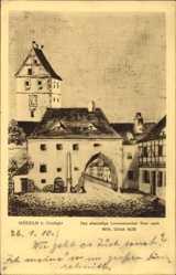 Künstler Ak Dillich, Wilh., Mügeln in Nordsachsen,Das ehemalige Lommatzscher Tor