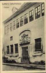 Postcard Lutherstadt Eisleben in Sachsen Anhalt, Luthers Geburtshaus